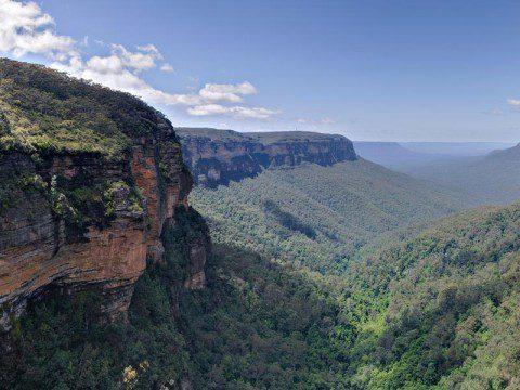 Blue Mountains Nationalparks fantastiska berg