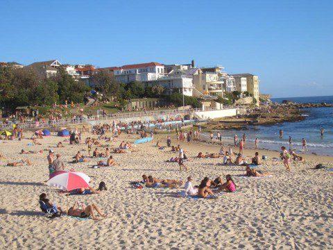 Strandhäng på Bondi Beach