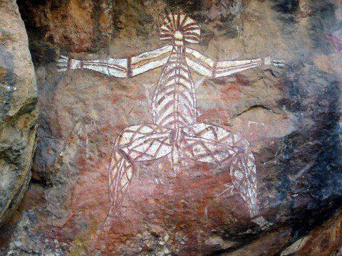 Grottmålningar på Kakadu Nationalpark